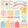 Holiday Banners and elements — Stock Vector #62721109