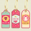 Tags collection. Tea Party — Stock Vector #62721279