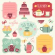 """Collection of items and tags """"coffee tea"""". — Stock Vector #62721563"""