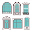 Illustrations with a vintage windows — Stock Vector #62721679