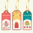 Tea Party Tags collection. — Stock Vector #62721769