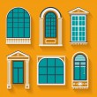 Set with vintage windows — Stock Vector #62722339