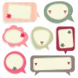 Vintage Speech bubbles — Stock Vector #62722889