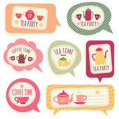 Tea and Coffee bubbles — Stock Vector