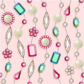 Seamless pattern with jewelry. — Stock Vector