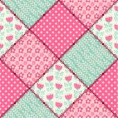 Seamless pattern patchwork. — Stock Vector