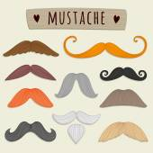 Set of vector mustaches. — Stock Vector