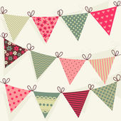 Cute Bunting collection. — Stock Vector