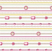 Seamless pattern with jewelry. — Vettoriale Stock