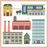 Buildings and elements — Stock Vector