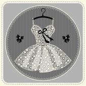 Подвенечное платье с кружевом — Cтоковый вектор