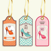 Women's shoes Tag collection — Stock Vector