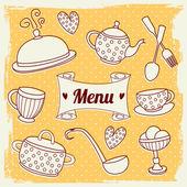 Illustrazione del menu — Vettoriale Stock