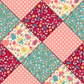 Seamless pattern. patchwork. — Stock Vector