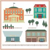 Buildings and elements. — Stock Vector