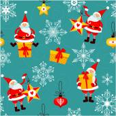 Seamless pattern of Christmas — Vector de stock