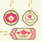 Tea Party collection — Stock Vector