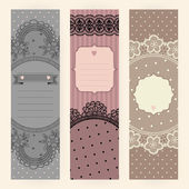 Vintage lace.  templates. — Stock Vector
