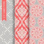 Set of 3 seamless patterns. — Stock Vector
