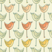 Seamless pattern with birds. — Stock Vector