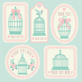 Vintage labels and postcards. — Stock Vector
