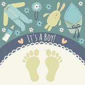 "Card ""It's a boy!"" — Stock Vector"