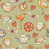 "Pattern ""summer tea party"" — Stock Vector"