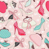 Women's shoes and handbags. — Stock Vector