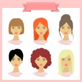 Illustrations with girls. — Stock Vector