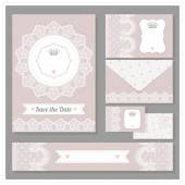 Wedding set design. — Vetor de Stock