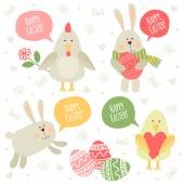 Happy Easter illustrations! — Stock Vector