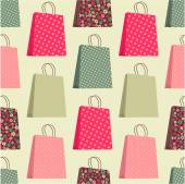 Seamless pattern with shopping bags. — Stock Vector