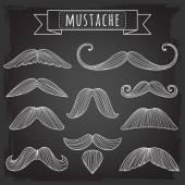 Set of vector mustaches. — Stock Vector