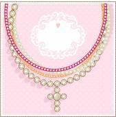 Invitation with jewelry. — Stock Vector