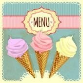 Card with ice cream. — Stock Vector