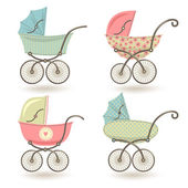 Set with prams. — Stock Vector