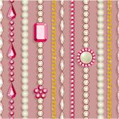 Seamless pattern with jewelry. — Stockvector