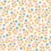 Patrones sin fisuras con flores. — Vector de stock