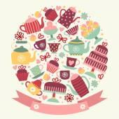 "Invitation to ""tea and coffee."" — Stock Vector"