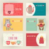 Tea and Coffee templates — Stock Vector