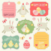 Happy Easter Tags collection.! — Stock Vector