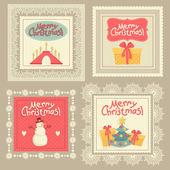 "Set ""Merry Christmas."" Tags — Stock Vector"