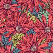 Seamless pattern with dahlias — Stock Vector