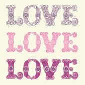 Love. Set for  greeting cards — Stockvector