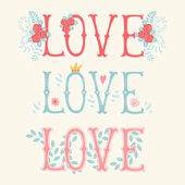 Love. Set for  greeting cards — Stock Vector