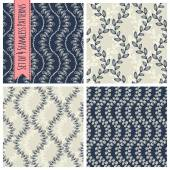 Patterns with floral elements — Vetorial Stock