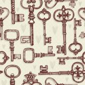 Set of vintage keys — Stock Vector