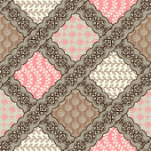 Seamless patchwork pattern — Stock Vector