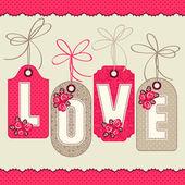 Αγάπη. Πρότυπο ευχετήριας κάρτας — Διανυσματικό Αρχείο