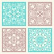 Set of 4 seamless patterns — Stock Vector #83041004